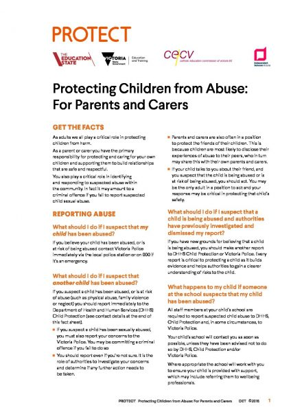 Parent Protecting Fact Sheet