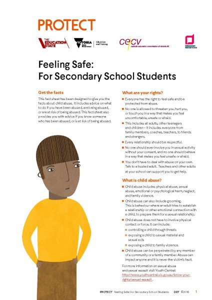 Secondary Student Child Safe Fact Sheet