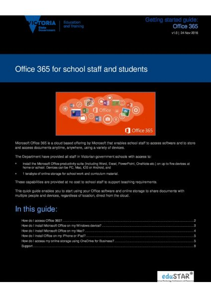 Office 365 for School Staff and Students