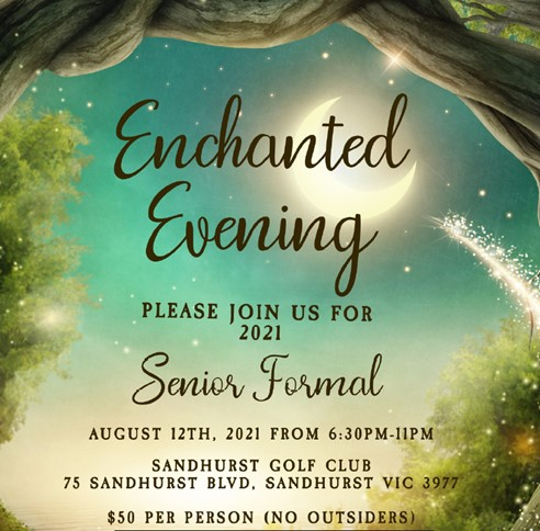Senior Formal (Enchanted Evening) @ Sandhurst Golf Club